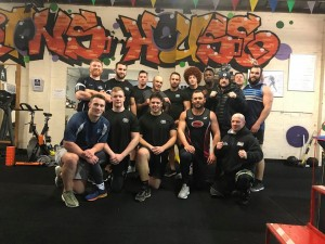 Coventry Bears Rugby League Team Training at Toe 2 Toe boxing and MMA academy in Canley. Fitness center