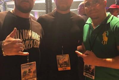 Toe 2 Toe in LA – Californian tour. Leighton Brady with Brian Ortega, Freddie Roach, Frank Trigg, Mike Beltan. UFC Bellator